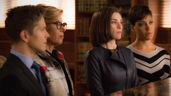 cary, diane, alicia, lucca in court